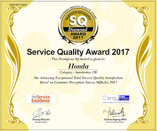 Penghargaan Service Quality 2017 Ahass
