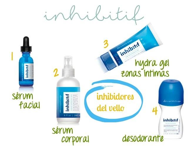 INHIBIFIT, productos para retrasar el vello facial y corporal