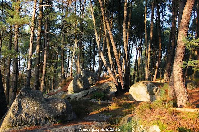 Pinède, Rocher du Potala, Trois Pignons