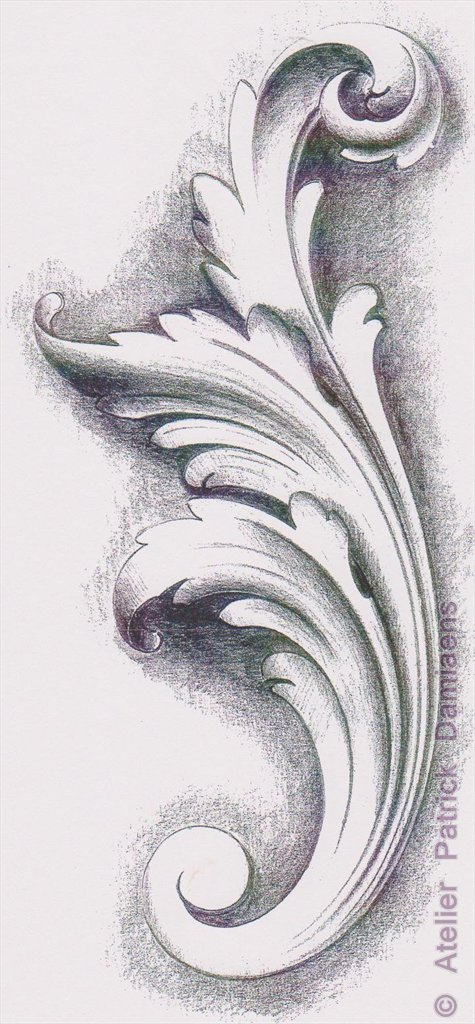 ornamental woodcarver patrick damiaens the acanthus leaf