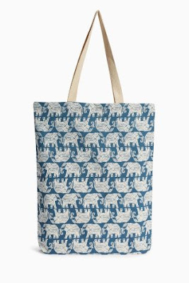 blue, elephant, shopper, bag, holiday, beach bag, beach