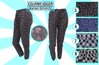 Celana jogger wanita bahan katun stretch termurah