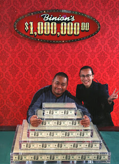 Photo with $1000000 at Binions Gambling Hall in downtown Las Vegas Nevada