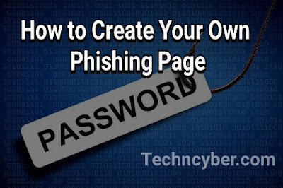 How to create phishing page