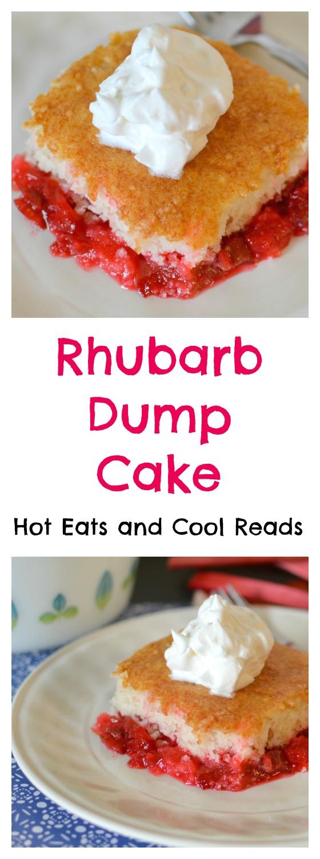 Rhubarb White Cake Strawberry Jello