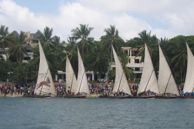 Lamu Cultural festival dhow race in Kenya