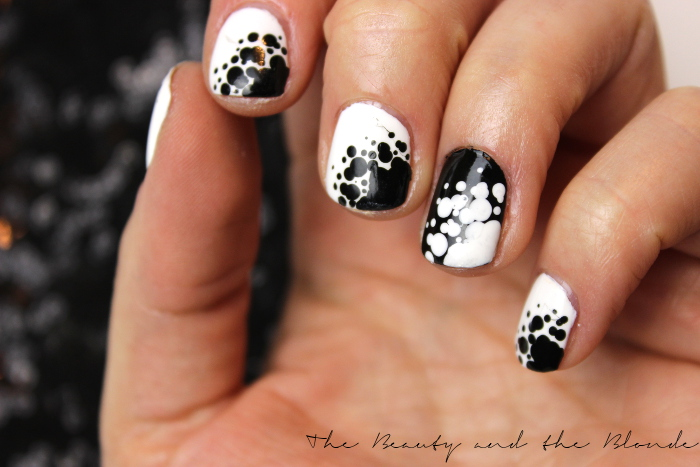 Ready, Set, Pooooliiish, Dotting Tool, Black and white, Nailart, Naildesign,