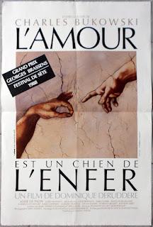 L'AMOUR EST UN CHIEN DE L'ENFER, CRAZY LOVE, Bukowski, Nécrophilie, Dominique Deruddere, Josse de Pauw, film
