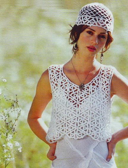 Crochet Sweaters: Crochet Vest and Hat Set free pattern for Women