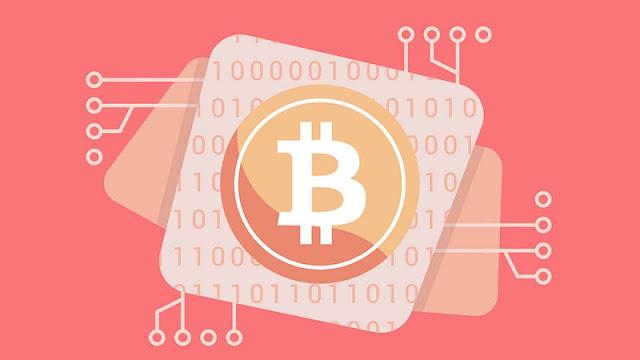 ilustrasi bitcoin dan blockchain