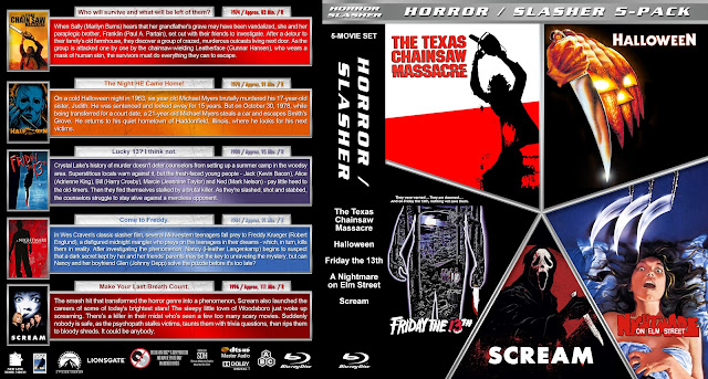 Horror / Slasher 5-Pack Bluray Cover