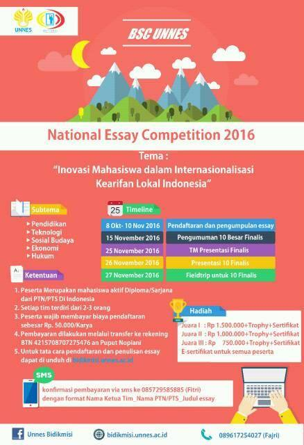 National Essay Competition BSC Unnes 2016