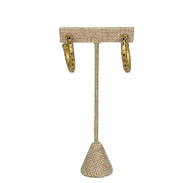 Shop Wholesale Medium Metal T-Shaped Burlap Earring Display Stand at Nile Corp
