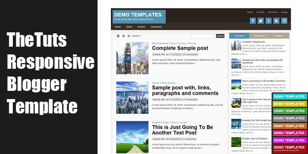 TheTuts Responsive Blogger Template by MKR