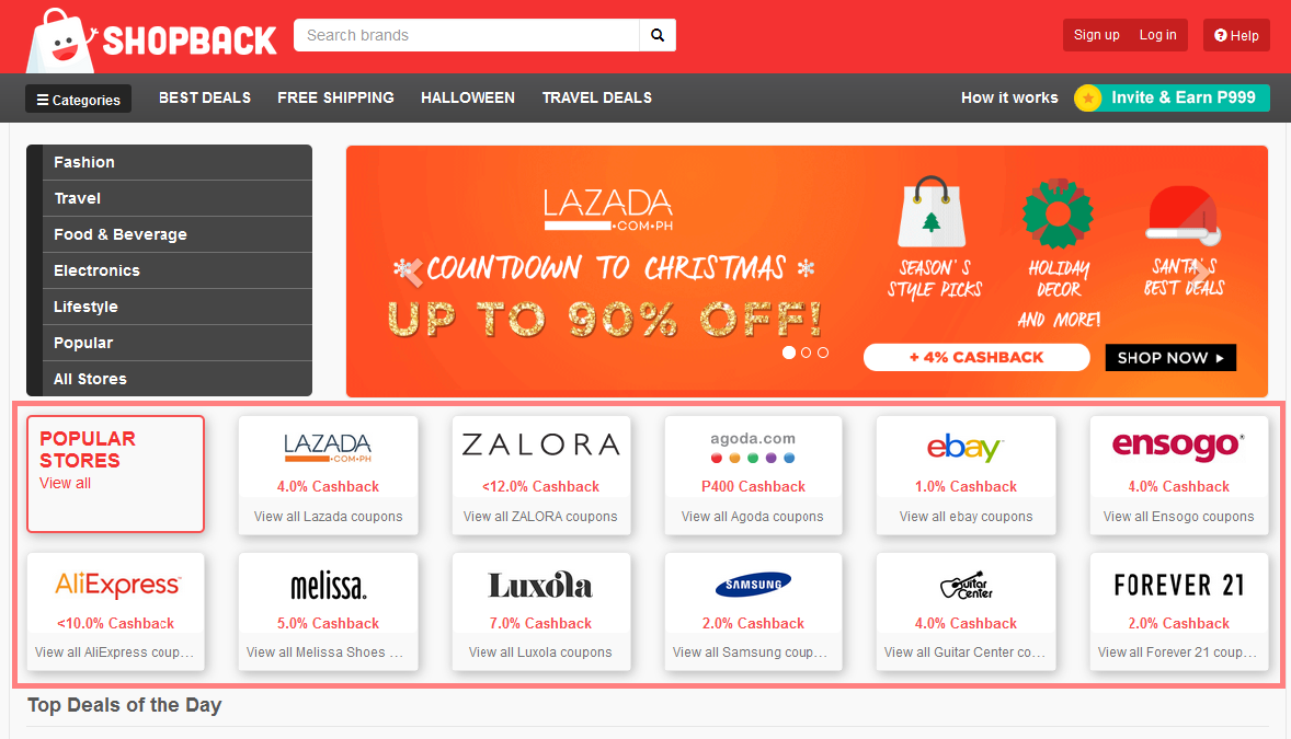 Get Cashback and Coupon Codes with Shopback!