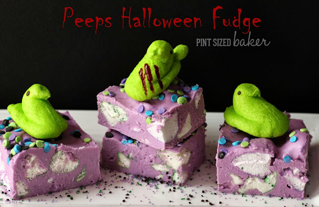 Pint Sized Baker: Peeps #Halloween Fudge @Peepsandcompany #Holiday #Marshmallow