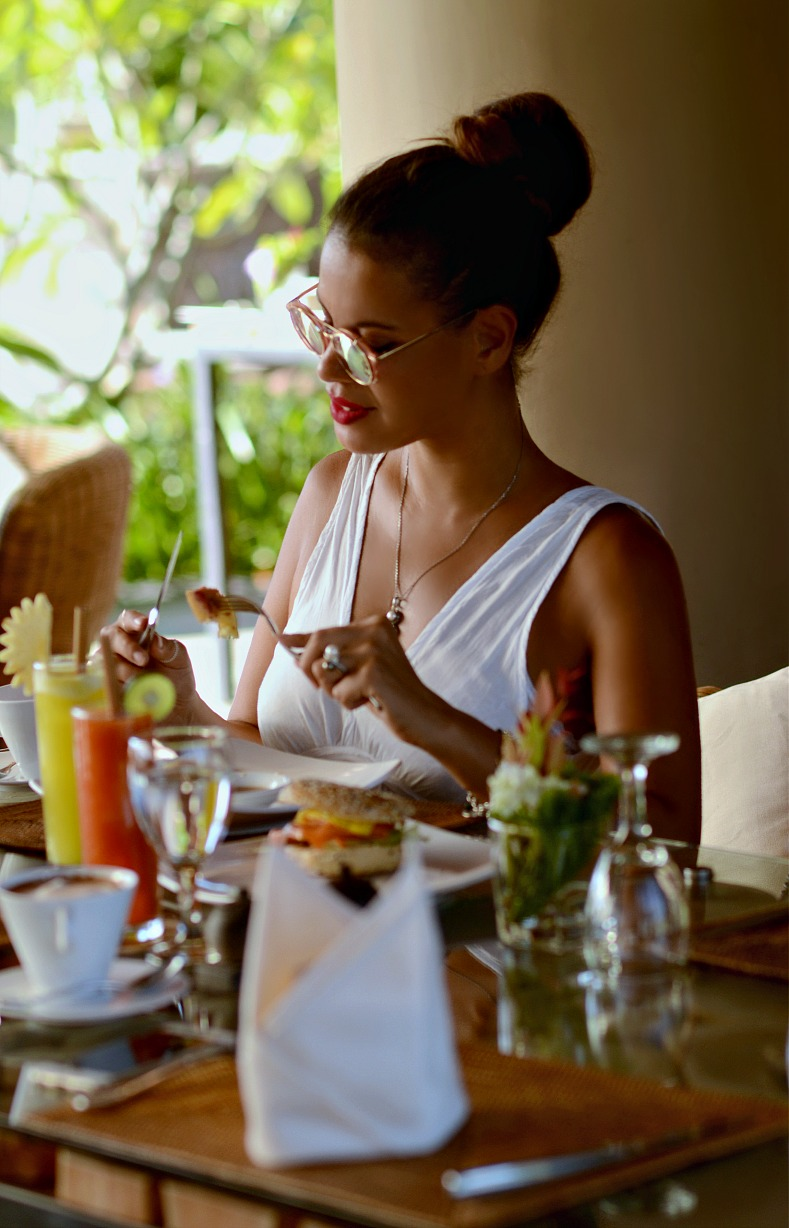 Tamara Chloé, Breakfast, The Griya Villas And Spa, Bali, Indonesia, Amed
