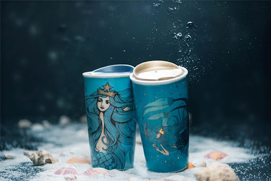 Check out these must-have Starbucks celestial siren themed anniversary collection