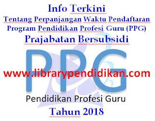 Info PPG Prajabatan Bersubsidi Tahun 2018