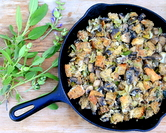 Spring Stuffing with Leeks & Mushrooms