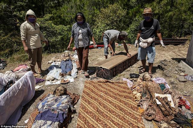ma'nene ritual pembangkitan mayat yang telah mati bertahun tahun