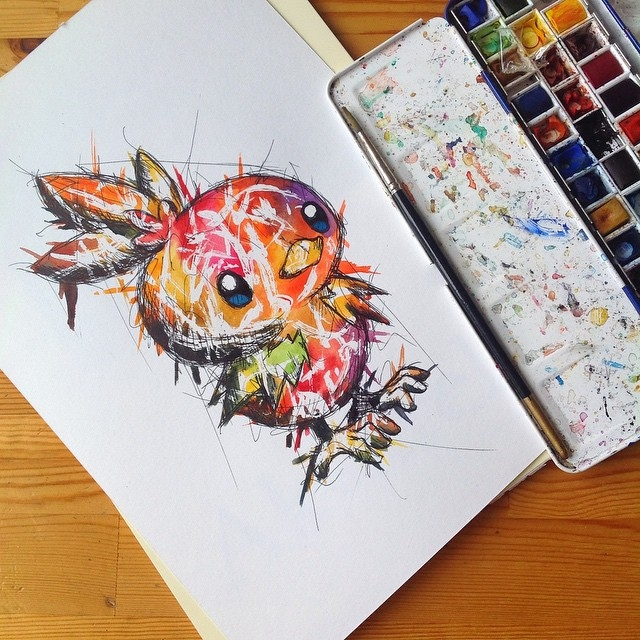 26-Torchic-Pokémon-Lisa-Marie-Melin-LittleGeekyFanArt-Fan-Art-Comic-Manga-and-Video-Game-Paintings-www-designstack-co