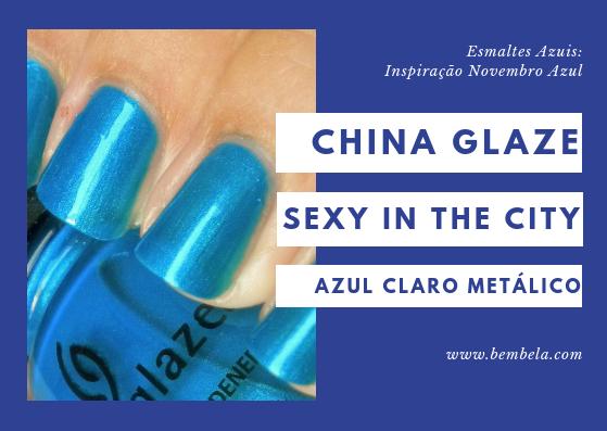 Sexy In The City é um azul metálico com muito brilho nele. Esmalte perfeito para usar enquanto está na praia. Requer duas camadas.
