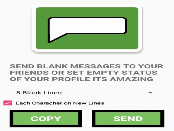 Cara Membuat Status Kosong WhatsApp Blank text for whatsapp