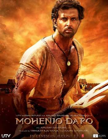 Poster Of Mohenjo Daro 2016 Hindi 180MB DVDScr HEVC Mobile Watch Online Free Download Worldfree4u