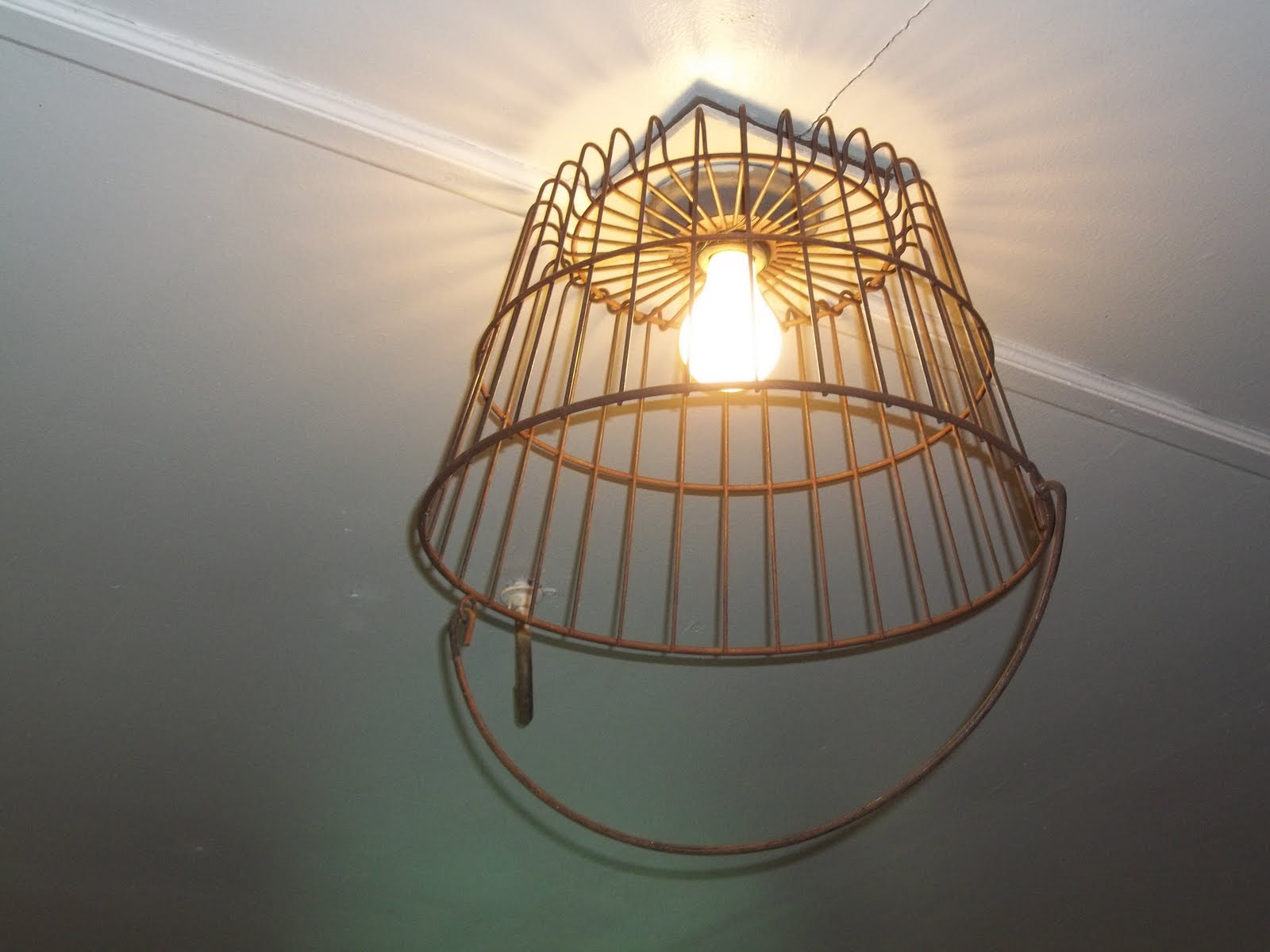 Curbside Collector: Wire Basket Light Fixture and Garage