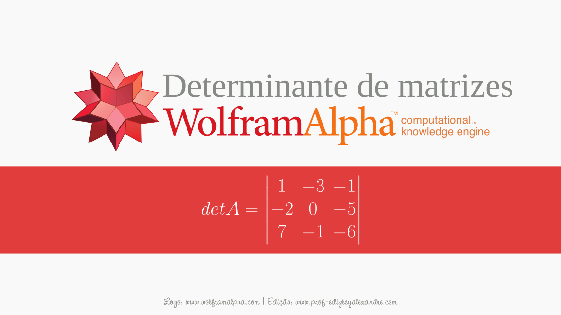 Calcule determinantes de matrizes de ordem 3x3 com este widget