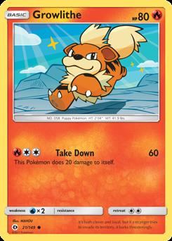 Growlithe Pokemon Card Growlithe -- Su...