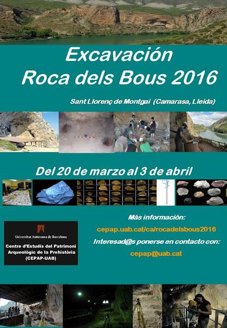Excavación Roca dels Bous 2016