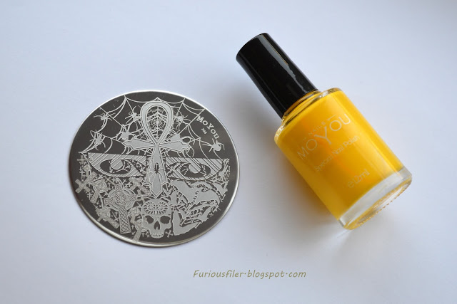 #31dc2015 moyou nails 308 stamping polish yellow