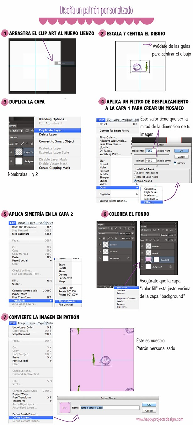 Tutorial Photoshop: crear un patrón personalizado en 7 pasos
