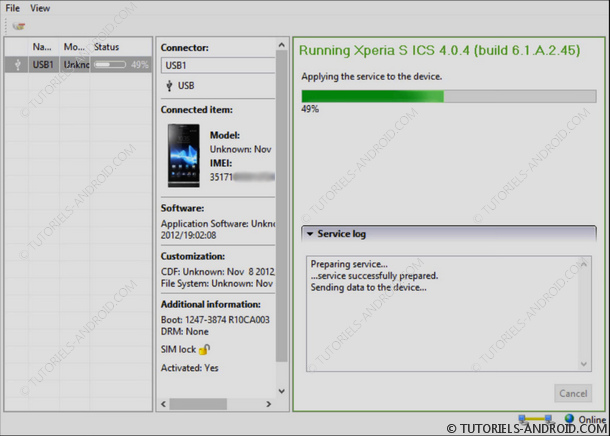 Installer Firmware EMMA Flash Tool Xperia