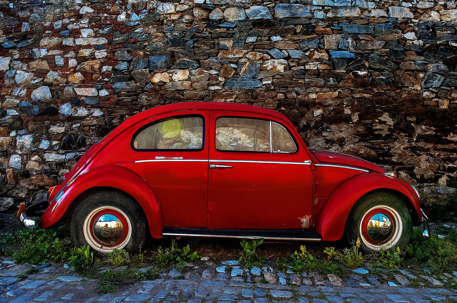 Český Krumlov, Czech Republic, VW Beetle, Volkswagen Beetle, Beetle, VW