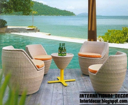 outdoor wicker furniture set, modern outdoor furniture