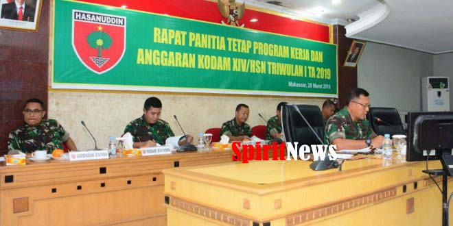 Brigjen TNI Budi Sulistijono, Pimpin Rapat Pantap  Triwulan 1 TA 2019