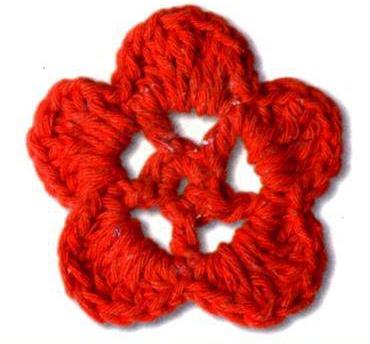 Patrón #1616: Flor a Crochet
