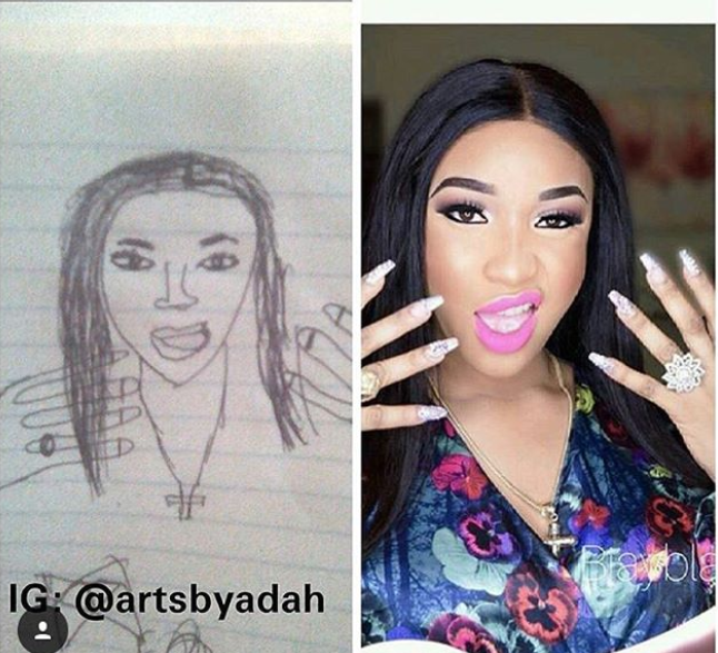 See what someone did to Tonto Dikeh
