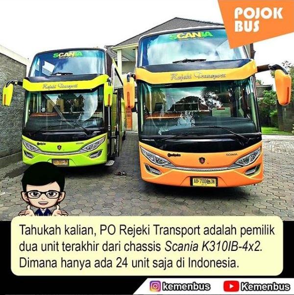PO Rejeki Transport dengan Chassis Scania K310IB-4x2