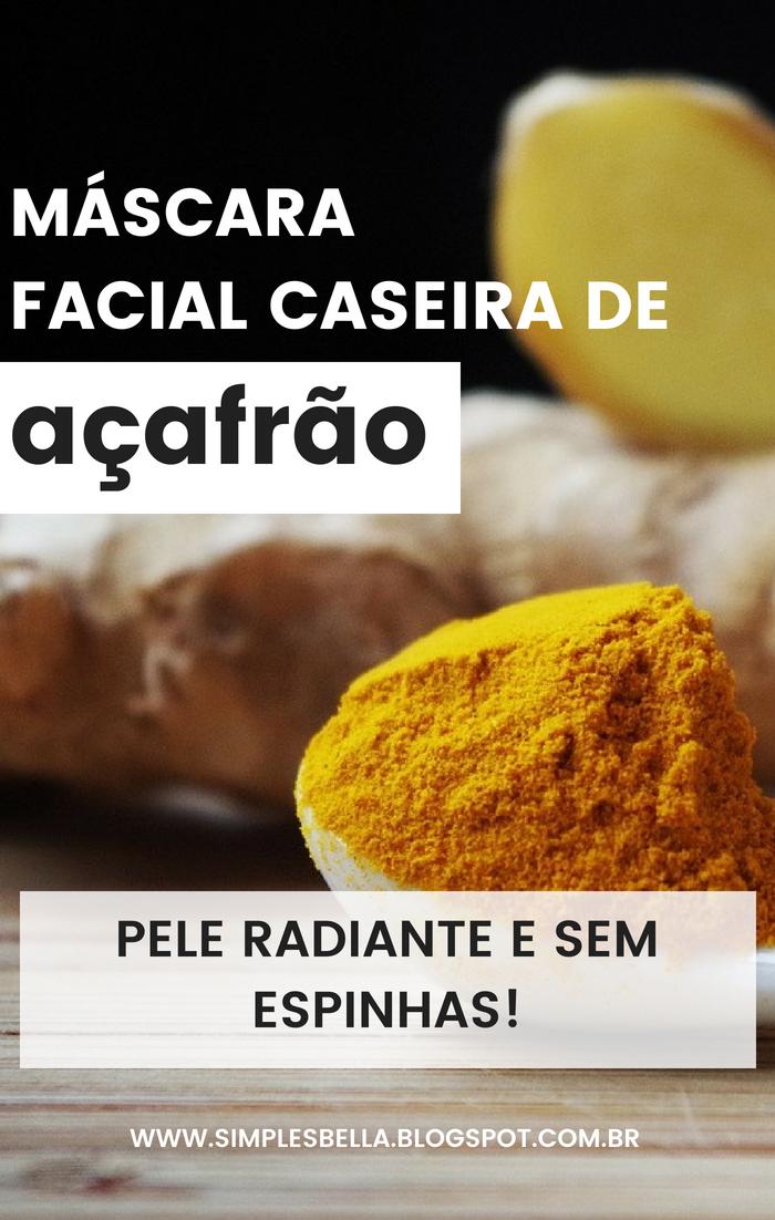 Máscara Facial Caseira de Açafrão - Pele radiante e sem espinhas!