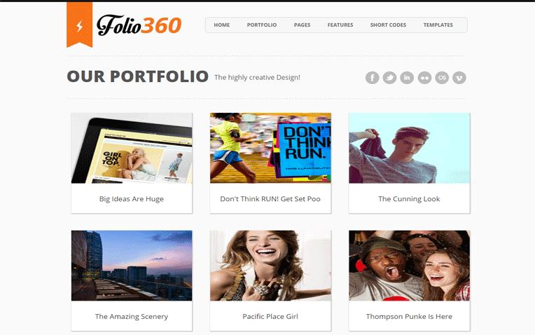Folio360 Free Blogger Template