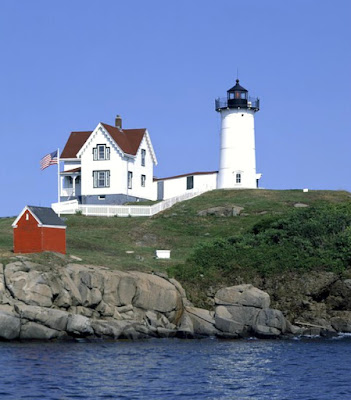 The Historic Cape Neddick Nubble Lighthouse in Maine