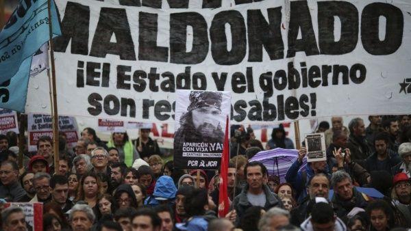 Gendarmería argentina presentará denuncia por caso Maldonado
