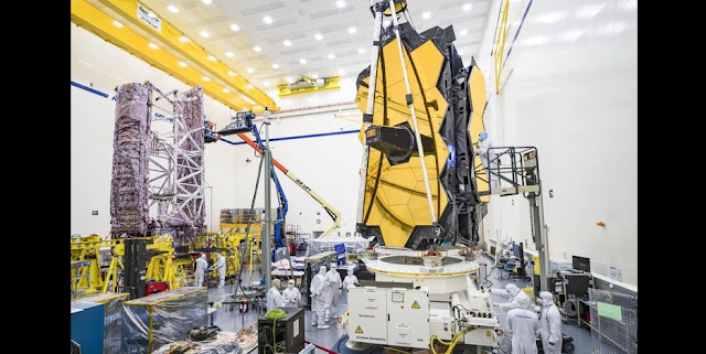 Both halves of NASA's James Webb Space Telescope are housed in Northrop Grumman's cleanroom as they undergo ongoing testing and integration efforts. Credit: Northrop Grumman Corporation