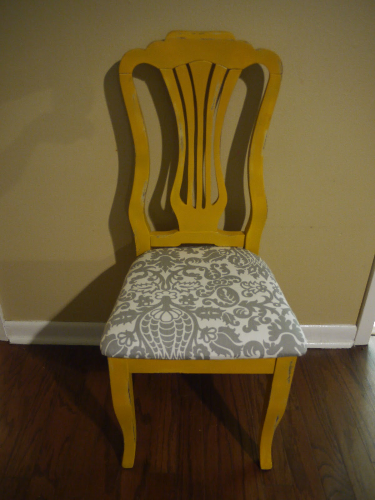 Yellow And Grey Chair Bedroom Done Deal Garbage To Glam Gray Makeover
