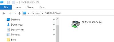 Sharing Printer Epson Windows 10