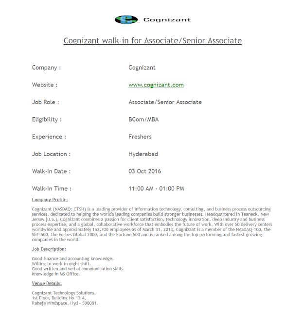 Cognizant openings